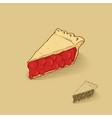american cherry pie vector image vector image