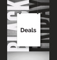 black friday shopping deals realistic vector image vector image