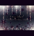 black merry christmas postcard gold inscription vector image vector image