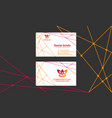 business card clean modern template vector image vector image