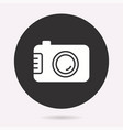 camera - icon isolated vector image vector image