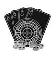 casino single icon in black stylecasino vector image vector image