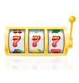 casino slot machine stock vector image
