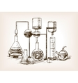 Chemical Laboratory still life sketch vector image vector image