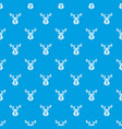 christmas deer pattern seamless blue vector image vector image