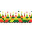 christmas tree with colorful background vector image vector image