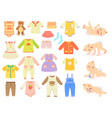 collection baby and children clothes vector image