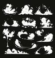 comic explosion effect set dust smoke vector image