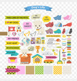 dog and care cartoon element vector image vector image
