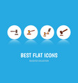 flat icon court set of justice legal crime and vector image vector image