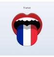 France language Abstract human tongue vector image vector image