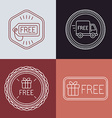 free labels and badges in outline style vector image vector image