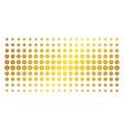gear golden halftone grid vector image vector image