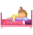 girl lying on bed vector image vector image