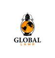 global lamp logo vector image vector image
