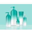 green bottles set background xd vector image