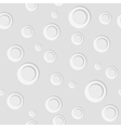 Grey paper circles seamless pattern design vector image vector image