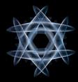 guilloche hexagonal abstract element vector image