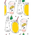 hand drawn abstract creative funny lemonade vector image vector image