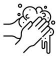 hand washing line vector image