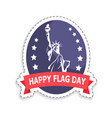happy flag day sticker title vector image