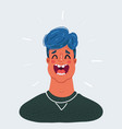 happy man laughs male vector image vector image