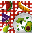 healthy foods dieting vector image