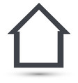 home line icon house symbol vector image vector image
