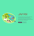 japan inscription above text near oriental things vector image vector image