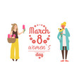 ladies international holiday womens day vector image
