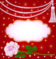 llustration wedding background with rose vector image vector image