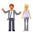 man and woman expression vector image vector image