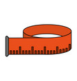 measuring tape design vector image