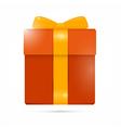 Orange Present Box Gift Box vector image vector image