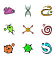 organism icons set cartoon style vector image vector image