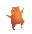party animal bear design funny character for kids vector image vector image