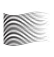 perspective speed motion lines wavy horizontal vector image vector image