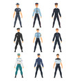 police people set police uniform of different vector image