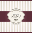 Restaurant menu cover design