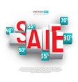 sale poster or banner with cubes and percents on vector image