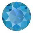 sapphire blue diamond vector image