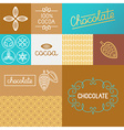 set of design elements for chocolate packaging vector image vector image