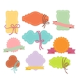 Set of labels or tags with ribbons vector image vector image