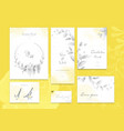 set yellow and ultimate gray card with flower vector image vector image