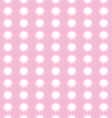 Snow flakes on pink background pattern vector image