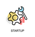 startup graphic icon vector image vector image