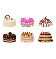 sweet bakery collection poster vector image