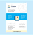 template layout for love diary comany profile vector image vector image