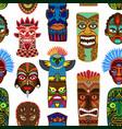 tribal mask masking ethnic culture vector image