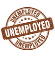 unemployed stamp vector image vector image